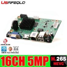 H265/H264 16CH * 5MP NVR 네트워크 디지털 비디오 레코더 1 SATA 케이블 모션 감지 P2P CMS XMEYE 보안