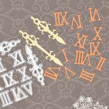 Ретро часы римские цифры металлические режущие штампы для скрапбукинга Фотоальбом Карта бумага Декор тиснение ремесло