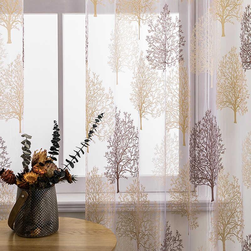 BHD Finito Floral Sheer Tende Della Finestra per Soggiorno Camera Da Letto Cucina Moderna Tende di Tulle Trattamento di Finestra della decorazione