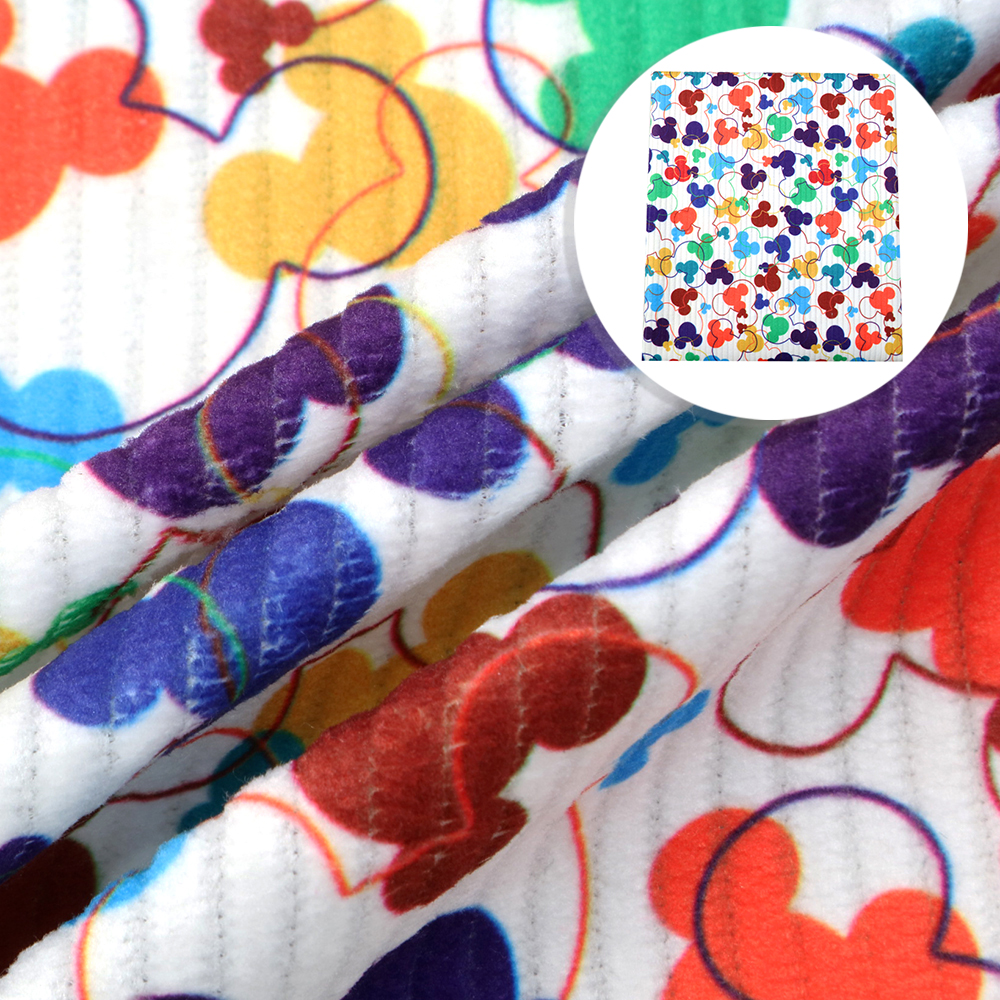 50*140cm Cartoon Corduroy Sewing Cloth Materials Nap Fiber Home textiles Fabric High Quality Stretchy Velvet Fabric,c9697 Pakistan