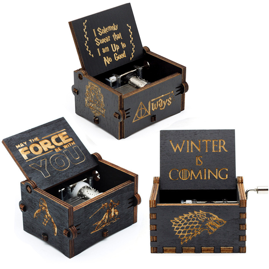 New Music Box Star Wars Theme Smusic Juego From Ancient Throne Shield Ln Madeira Handle Game Song From Throne Box image