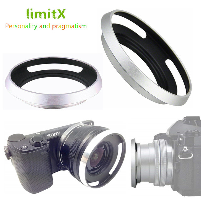 Metal Lens Hood Sony A6600 A6500 A6400 A6300 A6100 A6000 A5100 A5000 NEX 6 NEX 5T NEX 5N NEX 3N NEX 5R ile 16 50mm lens