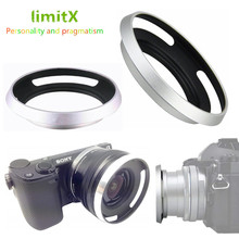 Metal Lens Hood for Sony A6600 A6500 A6400 A6300 A6100 A6000 A5100 A5000 NEX 6 NEX 5T NEX 5N NEX 3N NEX 5R with E 16 50mm lens