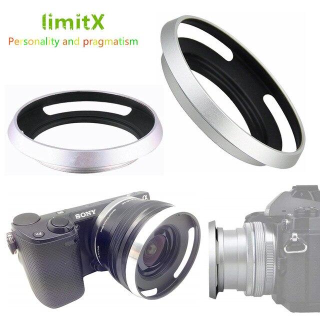 Metal Lens Hood for Sony A6600 A6500 A6400 A6300 A6100 A6000 A5100 A5000 NEX 6 NEX 5T NEX 5N NEX 3N NEX 5R with E 16 50mm lens