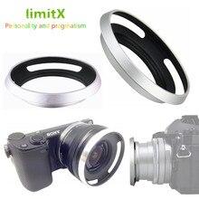 Metal Lens Hood para Sony A6600 A6500 A6400 A6300 A6100 A6000 A5100 A5000 NEX 6 NEX 5T NEX 5N NEX 3N NEX 5R com E 16 50mm lente