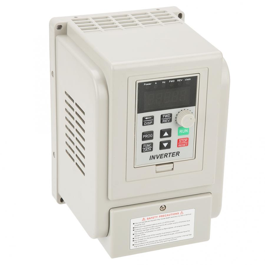 220V 20A Single-phase Variable Frequency Drive VFD Speed Controller for 3-phase <font><b>4KW</b></font> AC <font><b>Motor</b></font> image