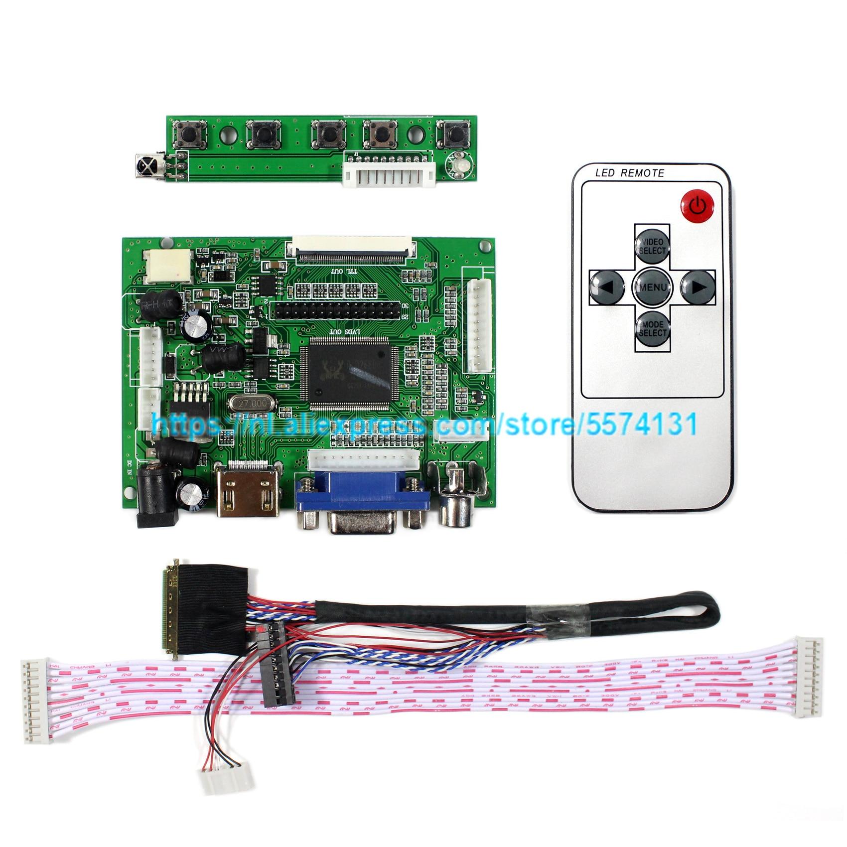 HDMI VGA 2AV TTL LCD Controller Board Ondersteuning 7inch 10.1 Inch 1280x800 N070ICG-LD1 B101EW05 LP101WX1 HSD101PWW1 LCD Screen