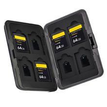 Storage-Box Memory-Card-Case-Holder Aluminum Organizer 8-Slots Media SDHC SDXC Digital