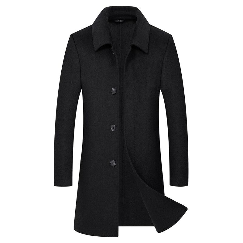 Nouveau manteau en laine pour hommes manteau automne cachemire manteau en laine d'hiver manteau en laine pour hommes d'âge moyen