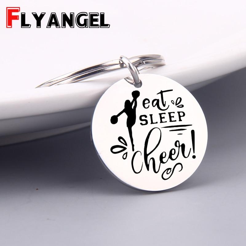 Cheerleading Keychain with Eat Sleep Cheer