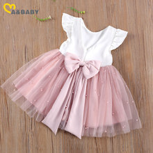 Ma amp Baby 6M-5Y Princess Toddler Kid Child Girl Tutu Dress Pearl Tulle Party Wedding Birthday Valentines Day Dresses For Girls cheap ma baby Cotton Polyester CN(Origin) Knee-Length O-neck Regular Sleeveless Cute Fits larger than usual Please check this store s sizing info