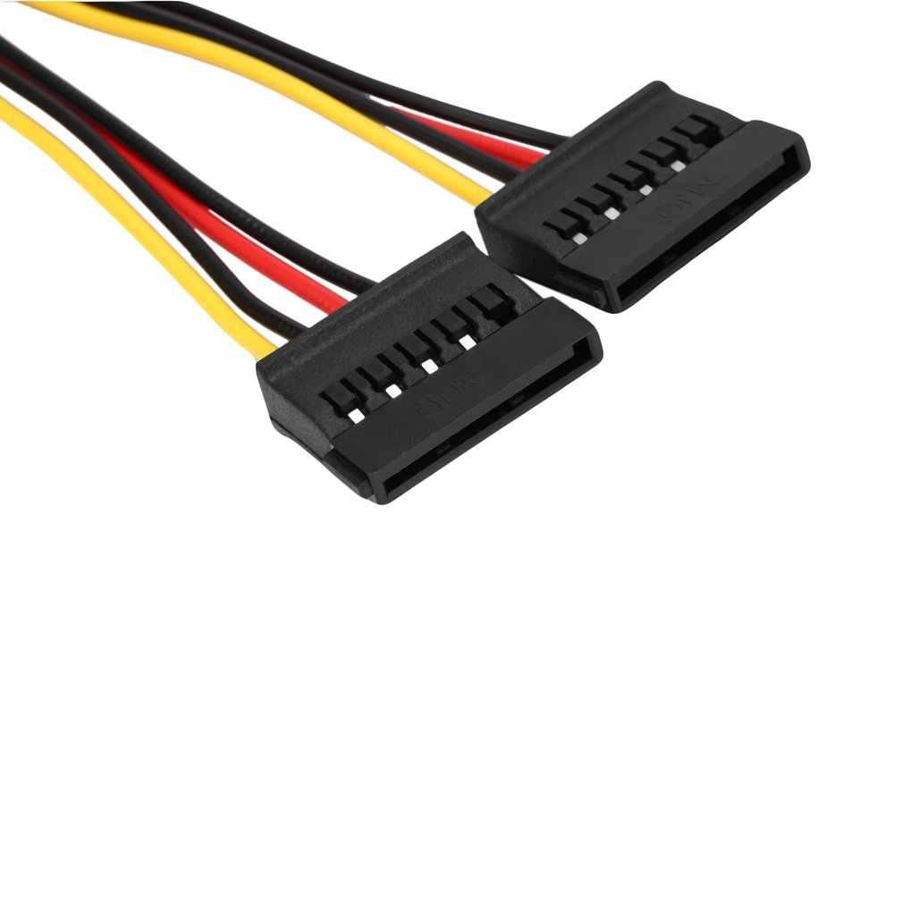 1 sztuk Serial ATA SATA 4 Pin IDE Molex do 2 z 15 Pin dysk twardy kabel zasilający gorący na całym świecie