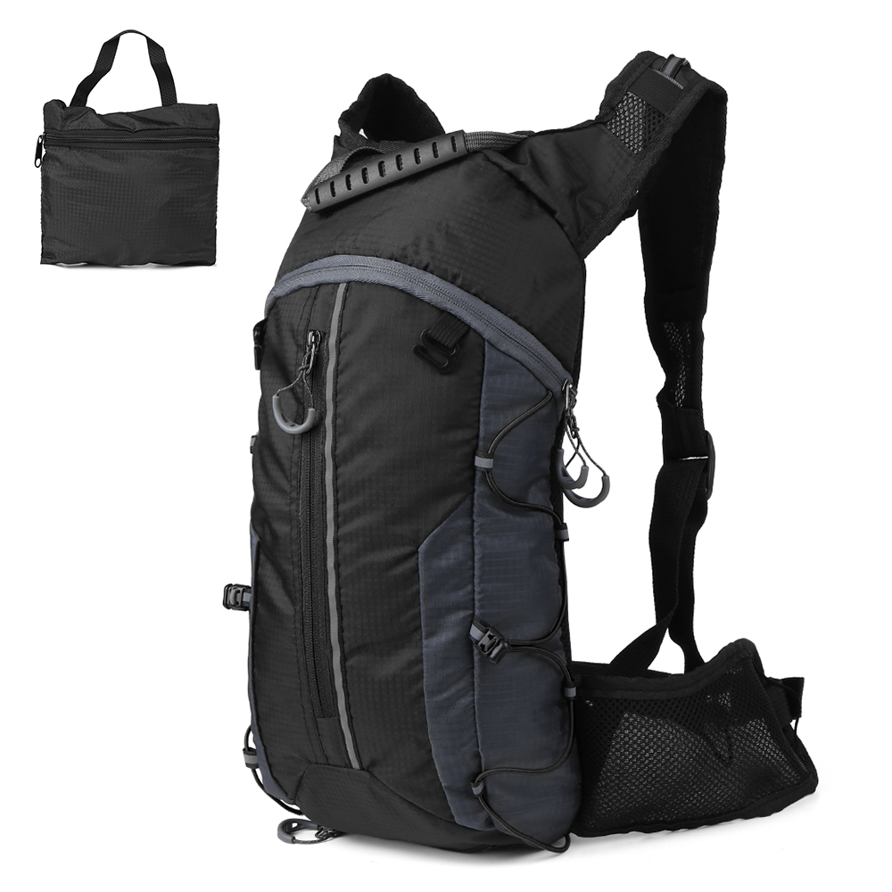 Waterproof Bicycle Bag Foldable Cycling Backpack 10L Ultralight Water Bag Climbing Hydration Backpack With 2L Water Bladder