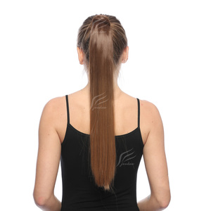 jeedou Synthetic Straight Clip In Hair Tail False Hair Ponytail Hairpiece With Hairpins Hair Pony Tail Hair Extensions