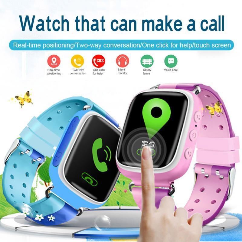 Q80 GPS Phone Positioning Fashion Children Watch 1.22 Inch Color Touch Screen Kids SOS Smart Watch PK Q90 Q50 Q12