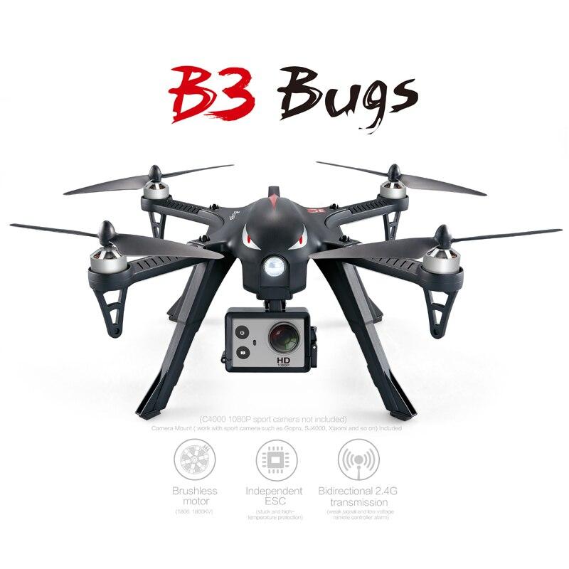 MJX B3 Quadcopter Motor sin escobillas RC Drone con cámara HD 2,4G 6-eje profesional Dron RC helicóptero con giroscopio Mejor Precio 16MP 4K HD Cámara WiFi FPV RC Drone plegable flujo óptico quadcóptero que mantiene altitud 6-axis gyro rc dron helicóptero