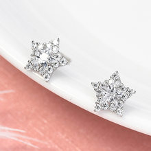 925 Silver Ear Stud Women's Cool Simple Five-pointed Star Ear Stud Elegant Sweet Cool Star Ear Stud Gifts(China)