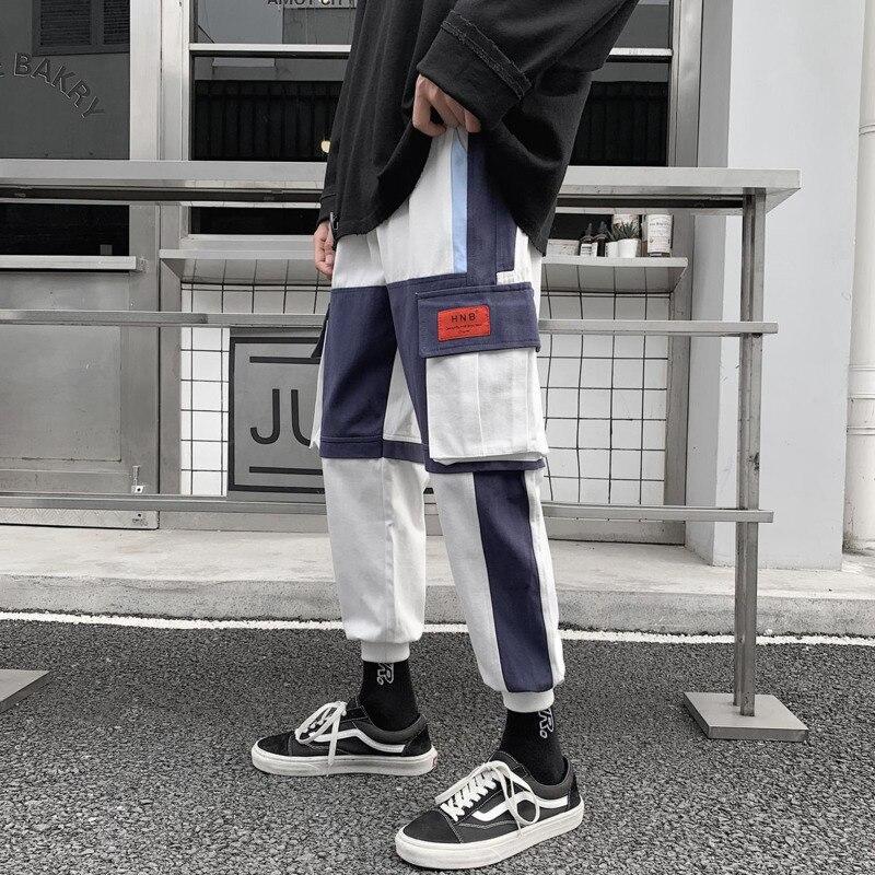 Privathinker Fashion Patchwork Men Cargo Pants 2020 Hip Hop Man Casual Joggers Pants Plus Sized Men's Trousers