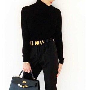 Image 3 - Cosmicchic 2020 Fashion Elegant Metal Becoration Leather Belt High Street Wild Multilayer Line Multicolor Cowskin Belt