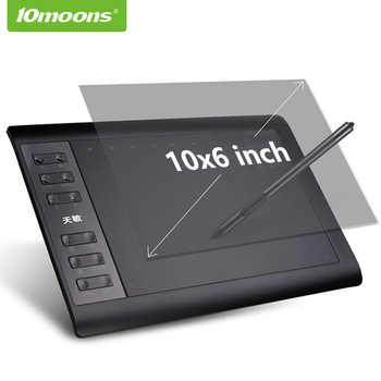 10moons 10x6 Zoll Grafik, Zeichnung, Tablet 8192 Ebenen Digitale Tablet Keine notwendigkeit ladung Stift