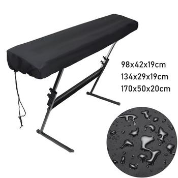 61 88 Key Super praktyczne pokrowce na fortepian pyłoszczelna pokrywa wodoodporna pyłoszczelna elektroniczna pianino cyfrowe osłona klawiatury tanie i dobre opinie CN (pochodzenie) Nowoczesne 100 poliester Black