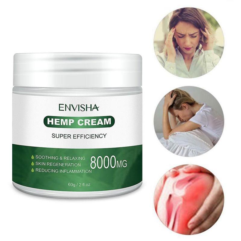 60ml Hemp Oil Essence Hemp Balm Cream Hyaluronic Acid Relieves Muscle And Joint Pain Nourishing Collagen Essence Skin Care Cream