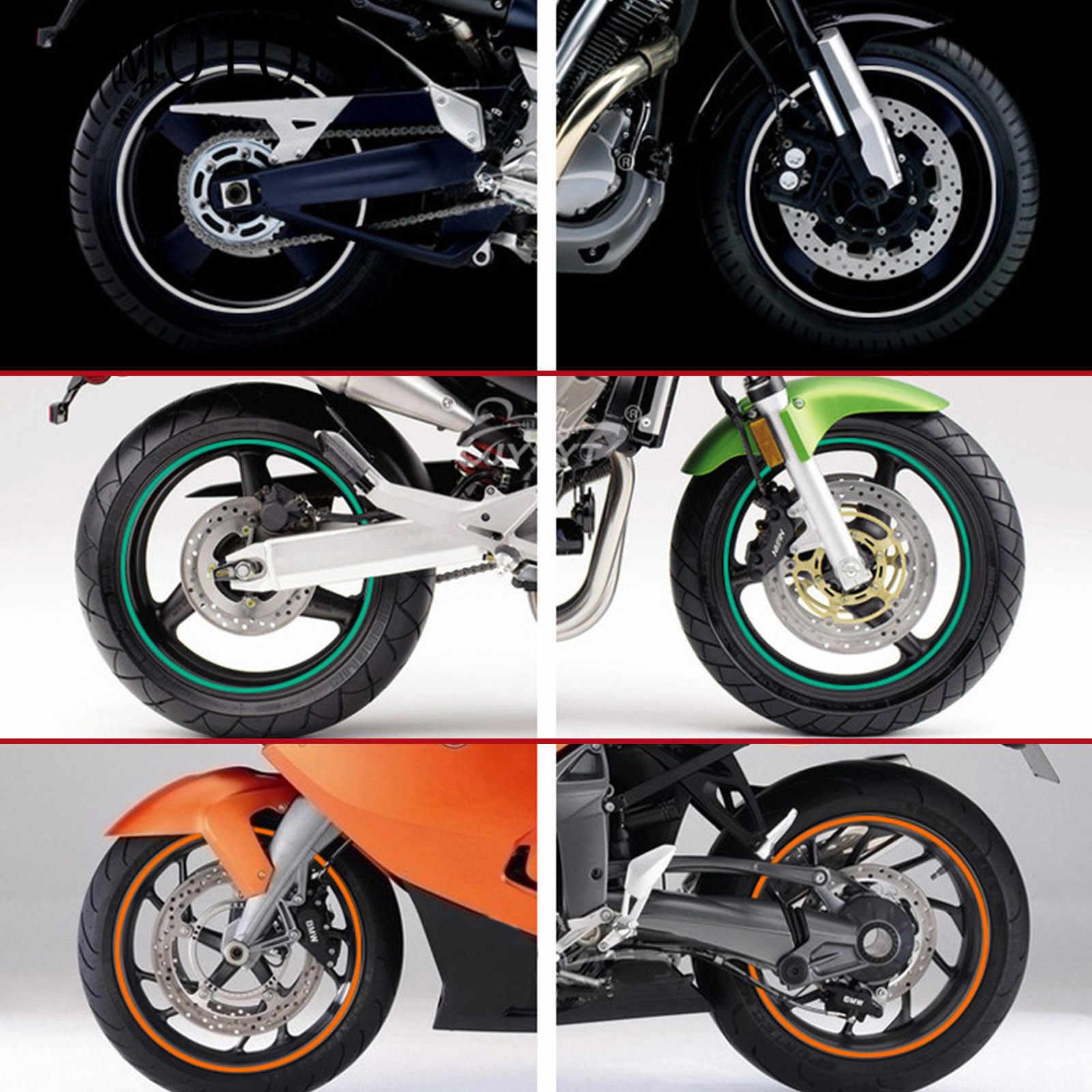 Adhesivo para rueda de motocicleta, pegatinas reflectantes para Motocross, tira de cinta para llanta para Yamaha FZ8 TDM 900 MT125 YZF R15 XT660 TMAX 500 530