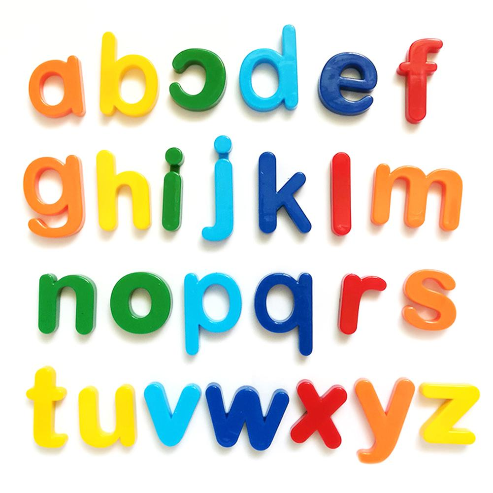 Hot Children Early Education Educational Toys White Board Magnetic English Letters Digital Magnetic Stickers EVA Fridge Stickers