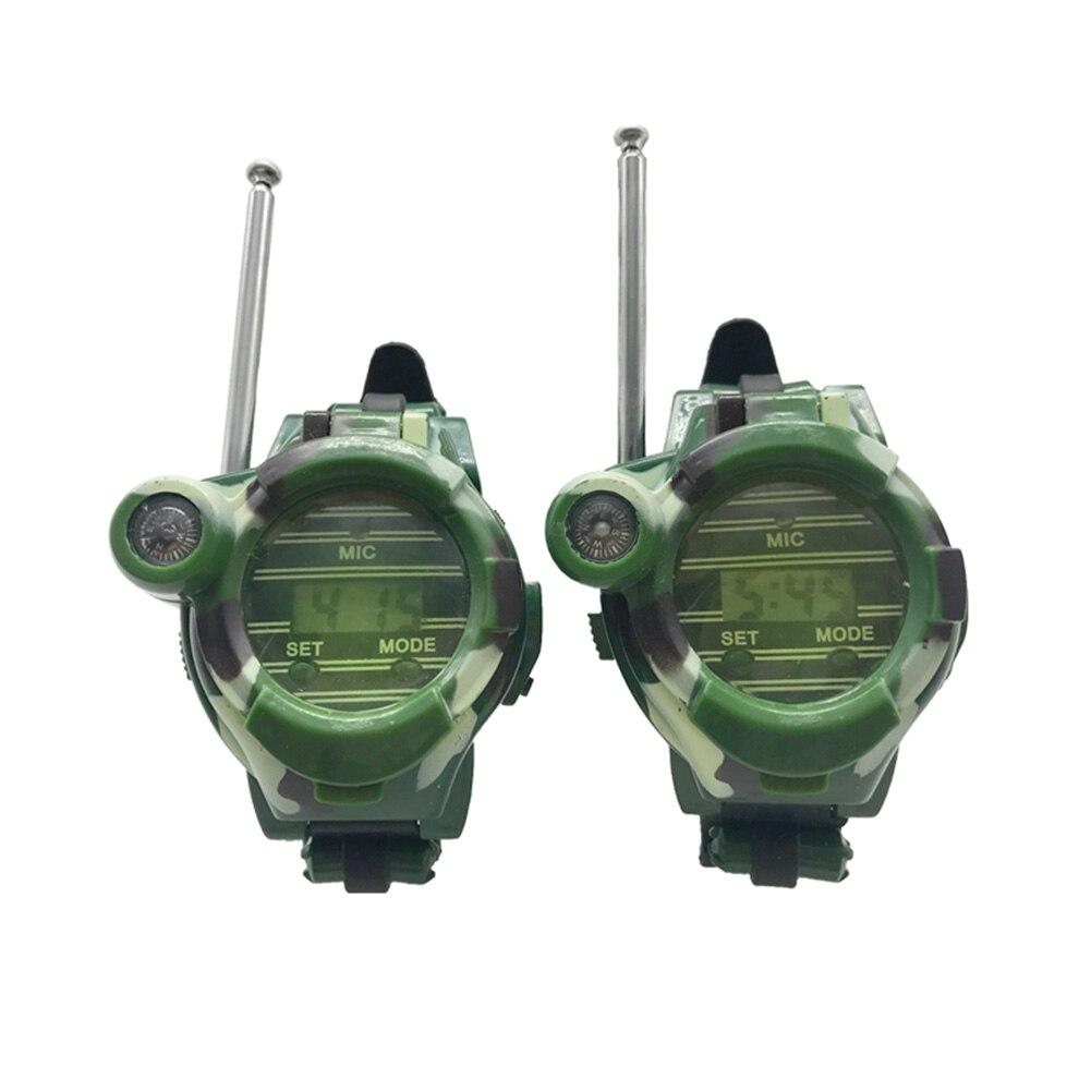 2 шт. портативная рация 7 в 1 часы компас беспроводной для детей Дети Открытый интерактивная игрушка Лидер продаж