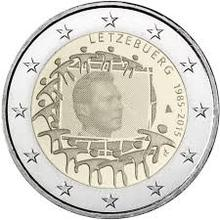 Luxembourg 2015 2 Euros Real Original Coins True Euro Collection Commemorative Coin Unc