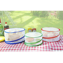 3PCS/Set Collapsible Storage Picnic Round Shape Food Cover Mesh Net For Home Outdoor Insect Prevention Pest Control Protectors(China)