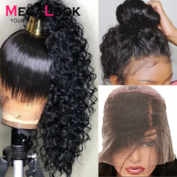 Peruanische 360 Spitze Frontal Menschliches Haar Perücken Für Schwarze Frauen Wasser Welle Vor Gezupft Haaransatz Remy Haar 180 Dichte Megalook haar