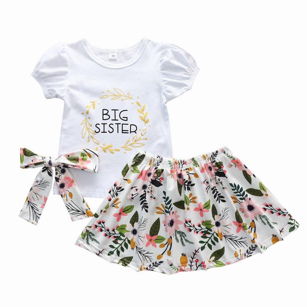big sister little sister girls clothes set kids summer outfits (24)