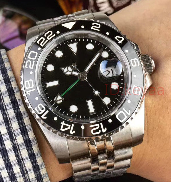 Luxury Brand Ceramic Gmt Mens Watch Black SS Black Men Mechanical Automatic Jubilee master Desinger Watches Wristwatches