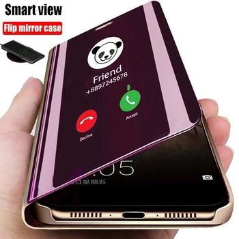 Anti-fall inteligentne odwróć poliwęglanowe etui na telefon dla LG V40 V30 V50 Plus Pro G8 Q60 K50S V60 K50 K61 K41S K51S aksamitne 5G lustro pokrywa uchwytu tanie i dobre opinie NoEnName_Null CN (pochodzenie) Etui z klapką Business Holder Stand Mirror Smart Flip Phone Case Zwykły Przezroczysty