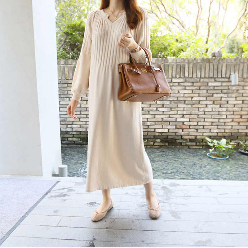 Korean Soft Warm Knitted Maternity Sweater Long Clothes For Pregnant Women Sweater Y873