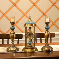New Morden Hollow Gear Table Clock Dial Metal European Neoclassical style Desk Clock Bedroom Living Room Home Decoration