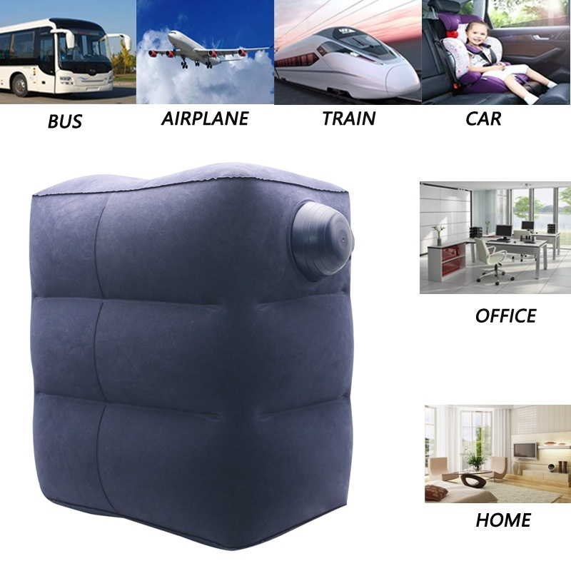 Inflatable Travel Foot Rest Pillow For Kids Flight Sleeping Airplane Train Car Bus Footrest Kids Sleeping Bed
