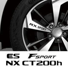 4 Stuks Auto Wiel Stickers Voor Lexus Rx 300 330 Is 250 300 Gx 400 460 Ux 200 Nx Lx ls Gs Es Sport CT200h Fsport Auto Accessoires
