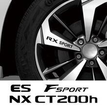 Autocollants pour roues de voiture, 4 pièces, pour Lexus RX 300 330 IS 250 300 GX 400 460 UX 200 NX LX LS GS ES SPORT CT200h Fsport, accessoires automobiles