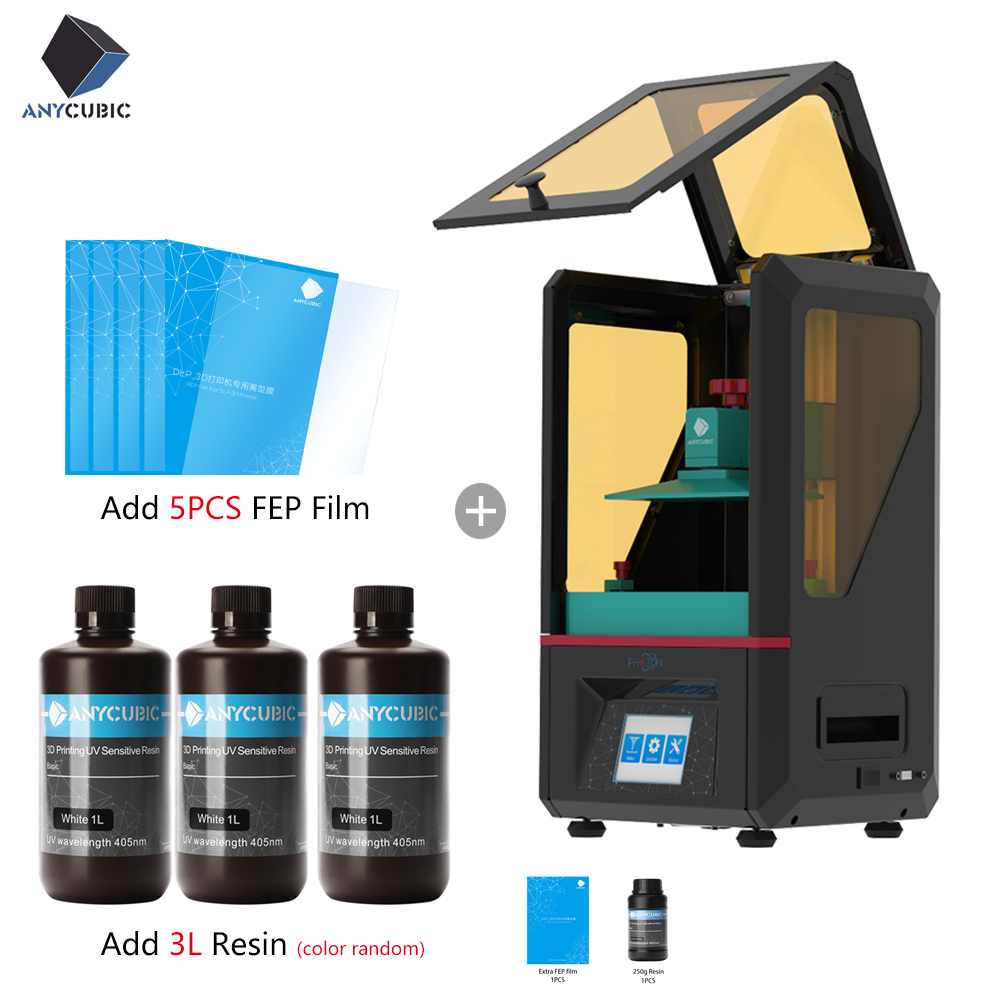 2019 ANYCUBIC 3D Printer PHOTON 2.8 Touch 2K Screen Resin Fep sheet SLA/LCD UV Light Cure Slicer Speed Impresora 3d Stampante-in 3D Printers from Computer & Office