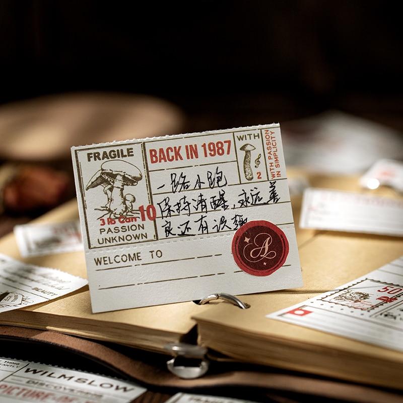 Купить с кэшбэком Journamm 30pcs Retro Chronicle Memo Pad and Stickers To Do List Stationery Memo School Stationery Notepad School Post It Notes