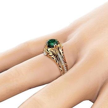 14K Gold Emerald Ring Jewelry K-Gold Jewelry
