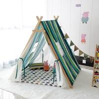 Children's super large solid wood rural tent indoor Baby Play Toy indoor tent outdoor camping children cotton Indian kids Teepee