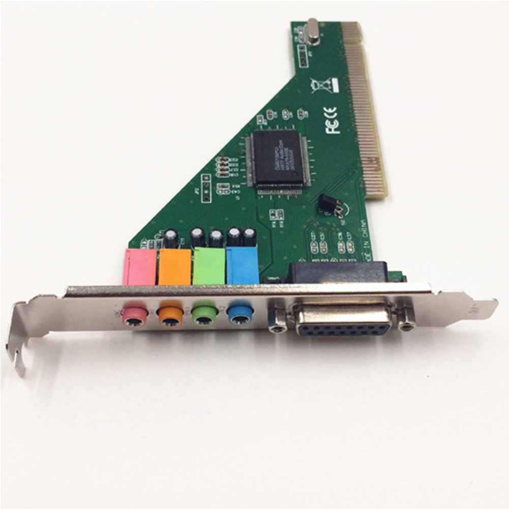 4.1CH CMI8738 Components Stereo Sound Practical Electronic With Driver CD Internal HIFI Audio Card  PCI Port Desktop PC
