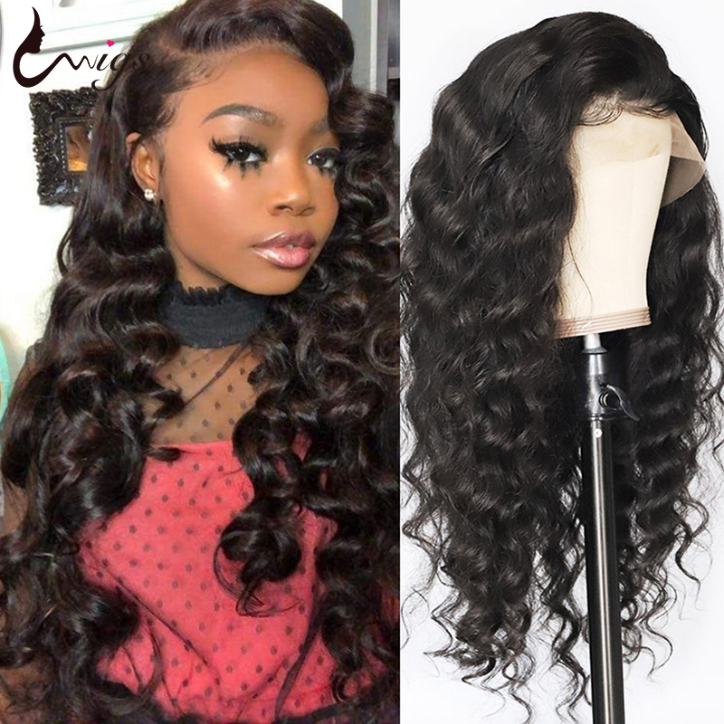 Lace Front Human Hair Wigs Pre Plucked Mongolian Loose Deep Wave Wigs For Black Women 8-22 Uwigs Remy Hair Wigs With Baby Hair