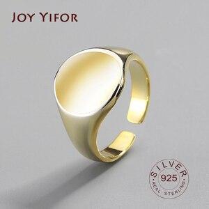 Round 925 Sterling Silver Rings For Women Gold Ring Bagues Pour Femme Argent 925 Joyas De Plata Ringen Fashion Jewelry