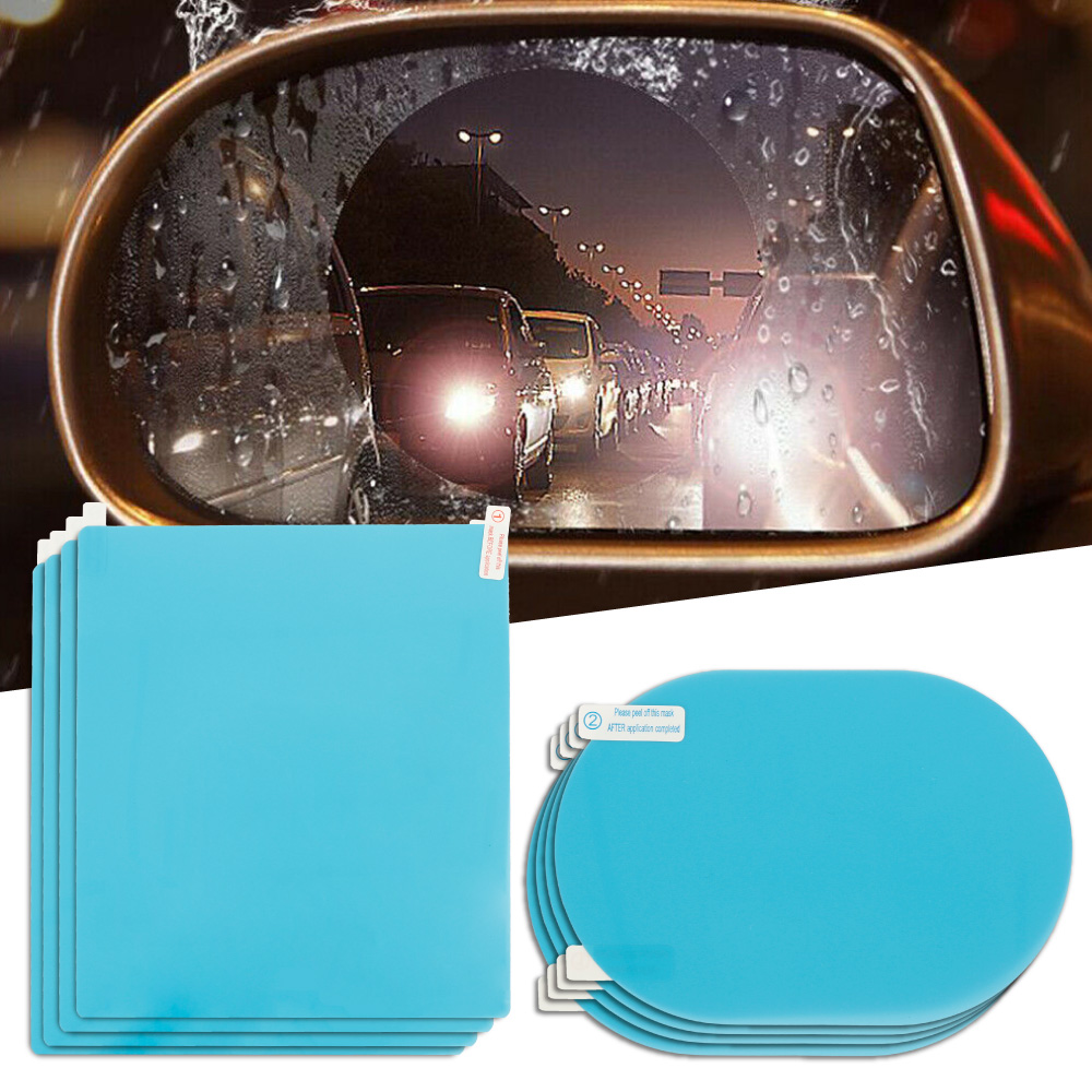 8pcs/set Car Anti Fog Rearview Mirror Protective Films For Car Rainproof Stickers Auto Clear Accessories