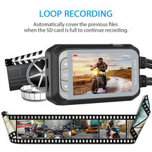 "New 2.7"" LCD PIP Motorcycle Dash Camera HD Waterproof 130° DV124 Moto Dash Cam 1080P Dual DVR Night Vison Black Box Recorder(China)"