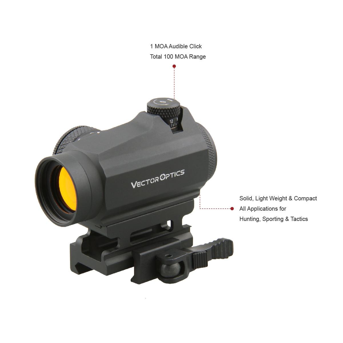 Red Dot Sight Target-Shooting Vector-Optics Picatinny-Mount Maverick Tactical 1x22 QD